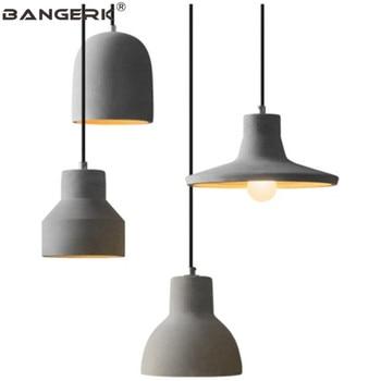 Loft Design Single Head LED Pendant Lamp Lighting Industrial Vintage Cement Hanging Light Dining Room Home Decor Fixtures