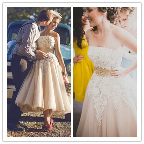 Colored Vintage Tea Length Dresses