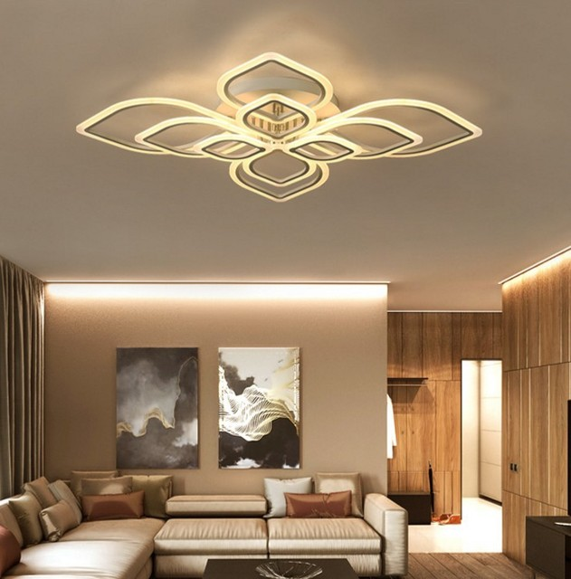 ironware lighting. Fangled Surface Mounted LED Chandelier Lights Acrylic Ironware Lamp For Home Lighting Living Room Bedroom