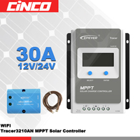 Tracer 3210AN+eBOX WIFI 01 30A 12V/24 100V solar controller with Solar Regulator WIFI ebox and lighting and timer control in APP