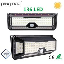 136 LED 3 Modes Wide Angle Solar Powered Light Outdoor Waterproof PIR Motion Sensor Lamp Yard Pool Garden YSL123