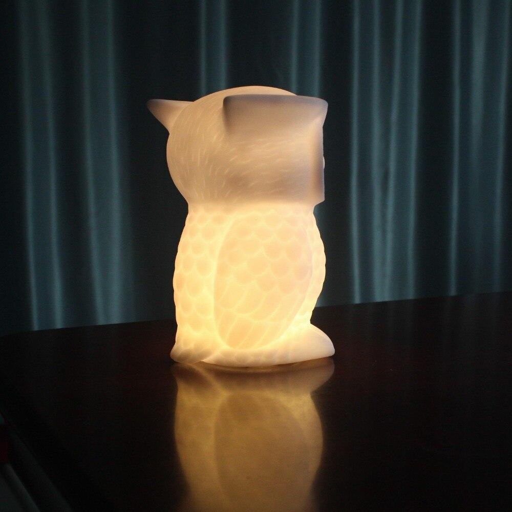 LED Eule Tischlampe Neuheit Nachtlicht Für Kind Nacht Hause Nacht Decor  Beleuchtung Nachtlicht Lampara Batterieversorgung In LED Eule Tischlampe  Neuheit ...