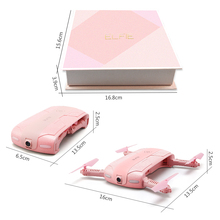 Original JJRC H37 ELFIE Foldable Mini RC Selfie Drone WiFi Control With 720P HD Camera RC Helicopter Pink