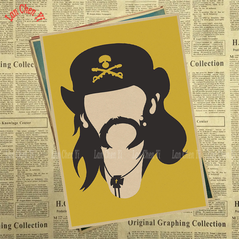 Lemmy Nostalgic Matte Rock Band Kraft Paper Poster Office Gift Room Dining Home Decor wall sticker Design