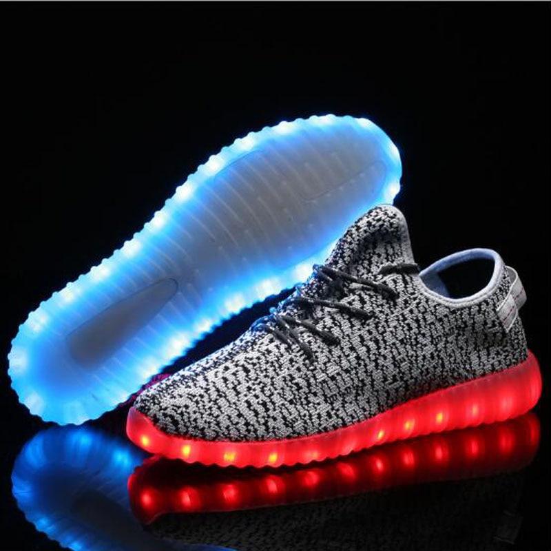 LED font b Men s b font Casual font b Shoes b font 2016 New Charging