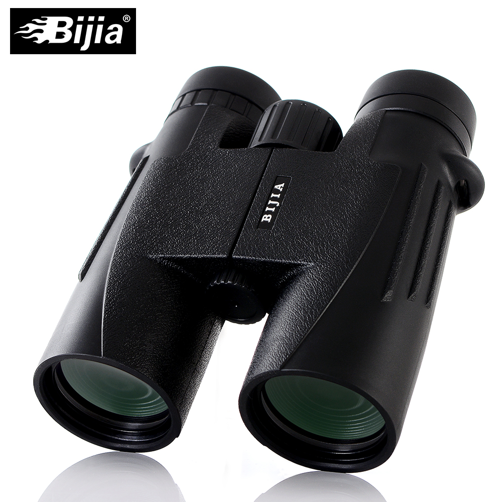 BIJIA Military HD 10x42 Binoculars Long Range Professional Hunting Telescope wide-angle LLL Night Vision No Infrared Eyepiece 10x50 binoculars telescope hd wide angle portable lll night vision waterproof scope compass not infrared measure the distance