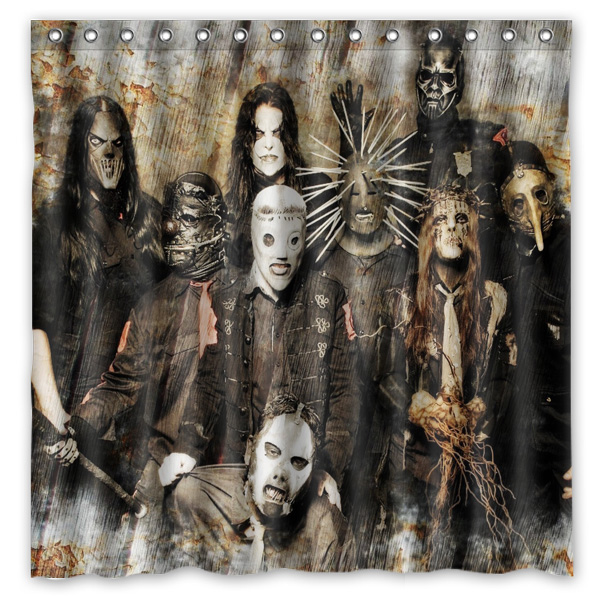Home & Garden 2016 Slipknot Waterproof Polyester Shower Curtain Mildewproof Bath Curtains Cortinas Para Banheiro 180x180cm Possessing Chinese Flavors Shower Curtains