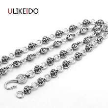 925 Sterling Silver Jewelry Cross Pendant Necklaces Fashion Hip-hop Charms Punk Link Chain For Men And Women Fine Gift 733