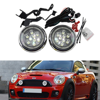 Super bright Daylight guide design LED Daytime Running fog lights/ Rally light for All Mini cars For Mini cooper R55 R56 R57