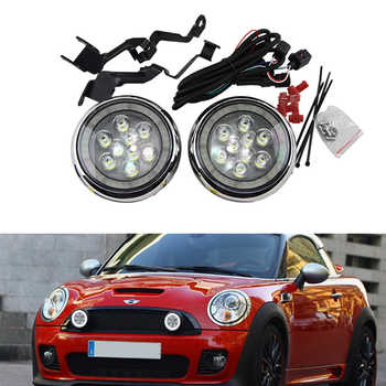 Super bright Daylight guide design LED Daytime Running fog lights/ Rally light for All Mini cars For Mini cooper R55 R56 R57 - DISCOUNT ITEM  10% OFF All Category
