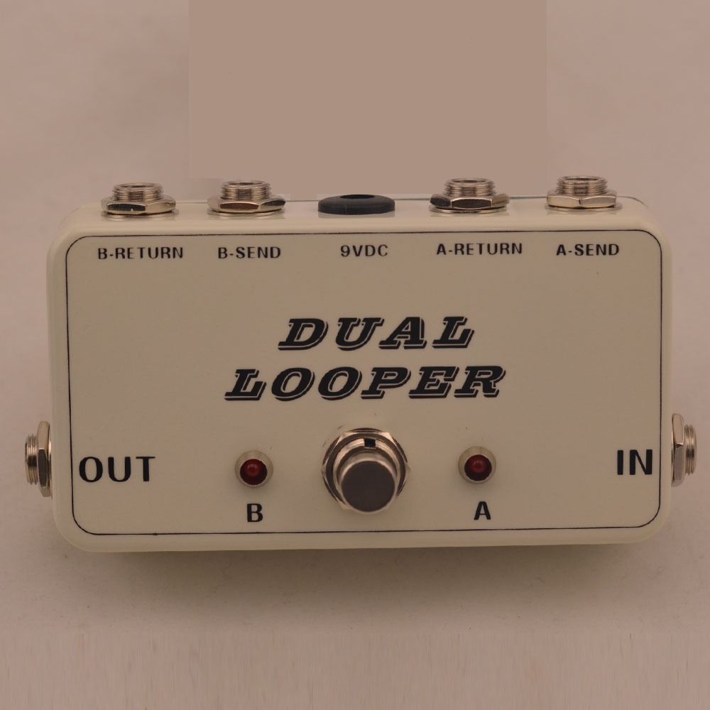 New True-Bypass Looper Effect Pedal Guitar Effect Pedal Looper Switcher true bypass guitar pedal White dual Loop switch aroma adr 3 dumbler amp simulator guitar effect pedal mini single pedals with true bypass aluminium alloy guitar accessories