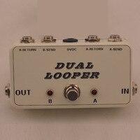 Nueva Pedal Efecto True-Bypass Looper Efectos de Guitarra Pedal Looper Switcher true bypass guitarra Blanco doble interruptor de Bucle