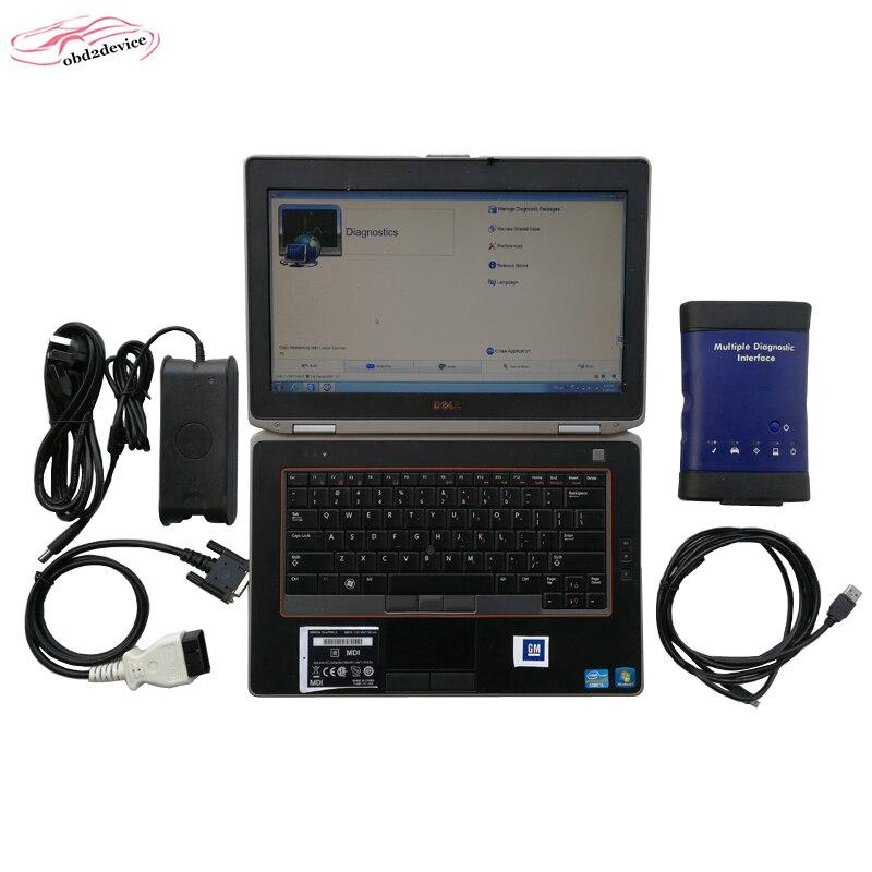 Новый Г-М MDI сканер с E6420 MDI с WiFi множественных Интерфейс MDI автомобилей Opel obd2 сканер с HDD автомобиля диагностический инструмент MDI адаптер БДХ