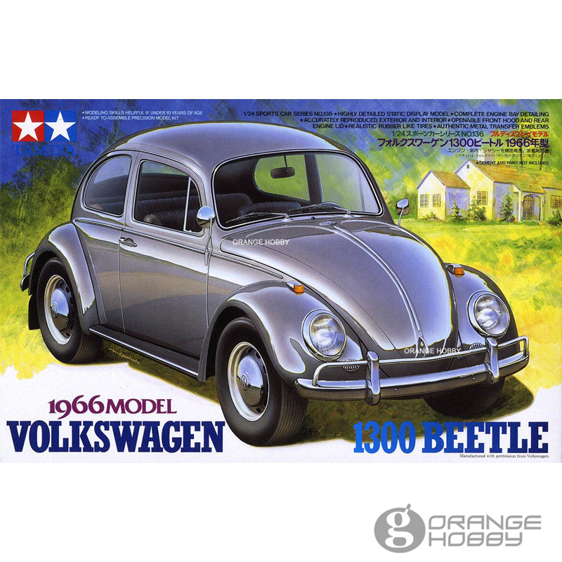 OHS Tamiya 24136 1/24 1300 Beetle 1966 Scale Assembly Car Model Building Kits G