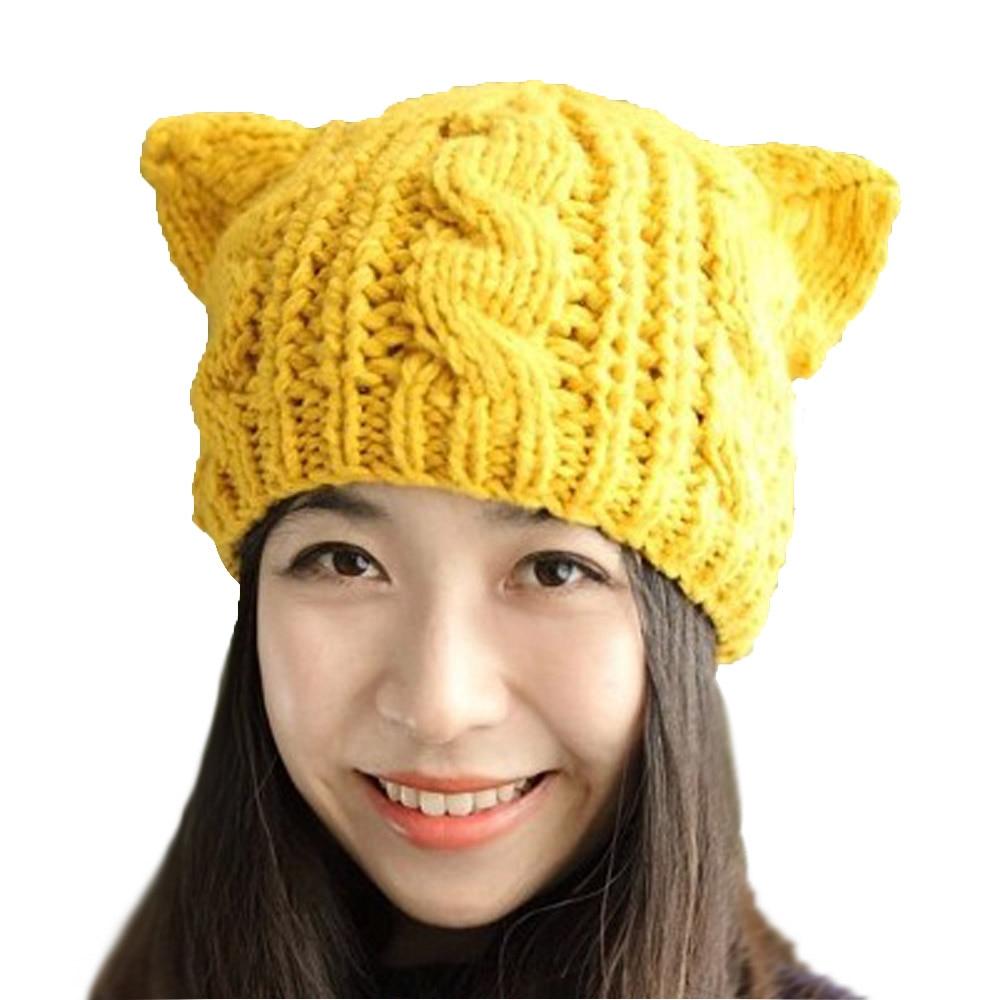 Womens 2016 Fashion Lady Girls Winter wool makes hotspot Cat Ear Hat ...