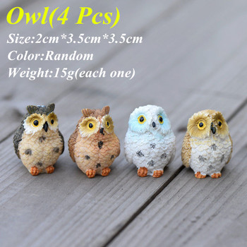 4Pcs Miniature Owls Fairy Garden Craft Terrarium DIY Landscape Decor Home Room устройство аккордеона