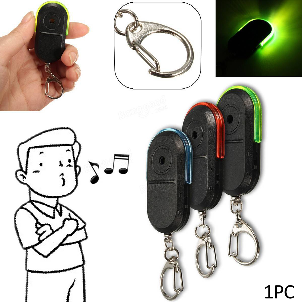 Mini Anti-lost Whistle Key Finder Wireless Alarm Smart Tag Key Locator Keychain Tracker Whistle Sound LED Light Things Tracker(China)