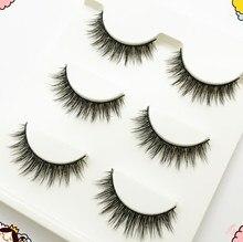 3 Pairs Long Makeup 3D Mink Lashes Extension