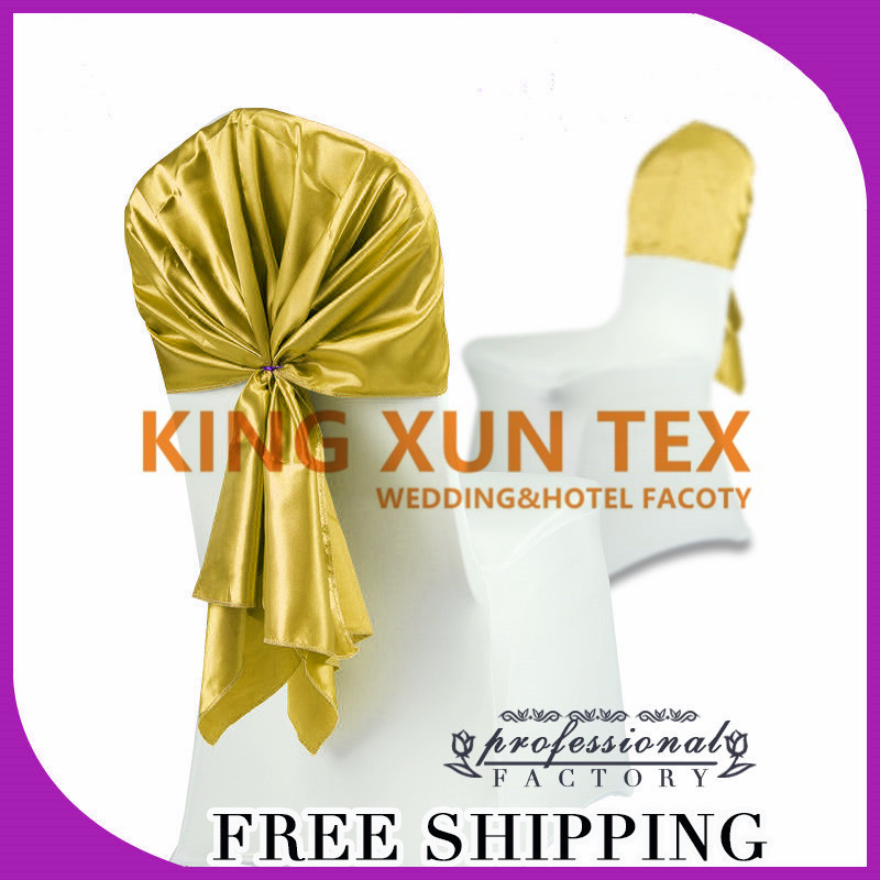 70cm*140cm Good Looking Satin Chair Hood  Chair Sash Fit For Wedding Chair Cover
