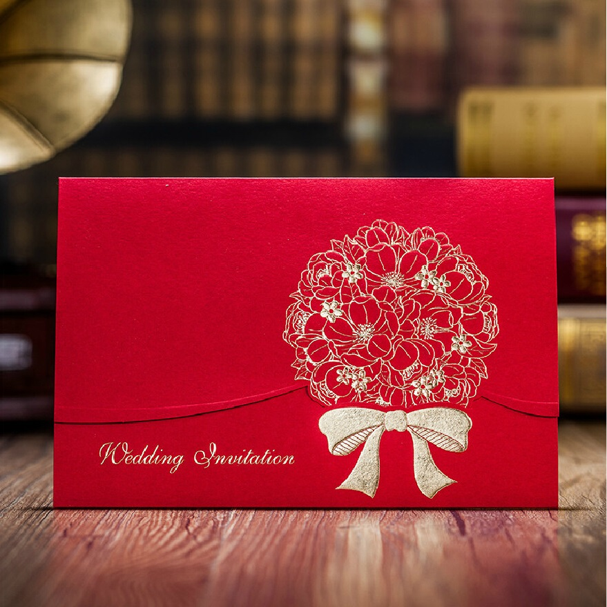 Chinese Red Marriage Invitation card, Luxury 2015 New Blank Wedding ...