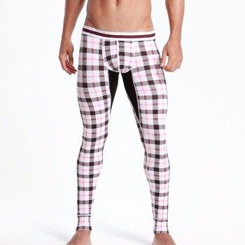 TELA ESCOCESA seobean hombres sexy algodón calzoncillos low Rise sólido calzoncillos térmicos