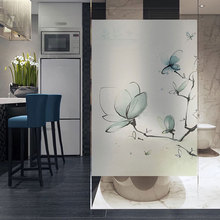 Butterfly window Glass Sticker no glue static Privacy Custom size bathroom Sliding door Christmas decorative film for furniture