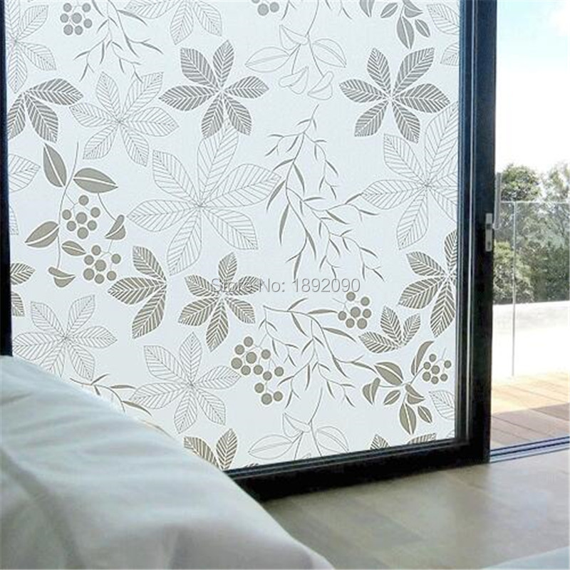 2017 45cm 200cm frosted privacy glass window film adhesive embossed window sticker home decor. Black Bedroom Furniture Sets. Home Design Ideas