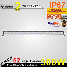 52 Inch 300W LED Light Bar 6000k 300 watt Driving Work Light 4X4 Off Road Roof auto light Spot/Flood/combo beam Led Ramp 12v 24v