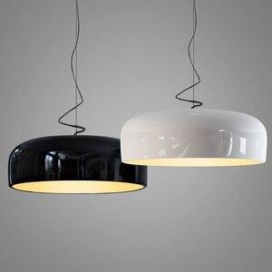 Image 3 - GZMJ Modern Metal LED Pendant Lights White/Black Nordic Brief LED Bedroom Hanging Lamp 90V 240V E27 Bulb Dining Room HangLamp