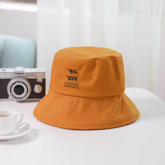 2669b567ed7 FLYBER Man Women Cotton Bucket Hats Flat Solid Hip Pop Summer Outdoor Unisex  Fold Sun Protection Hat Sports Beach Bob Caps