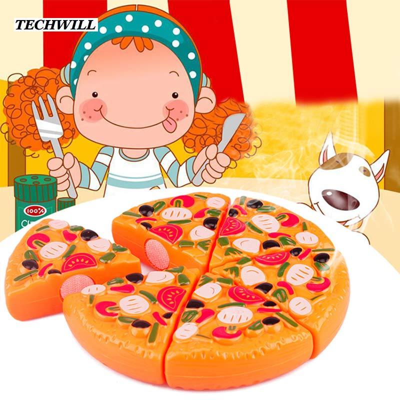 simulazione pizza 6 pzset bambini cucina finta play toys gioco cottura dei cibi per