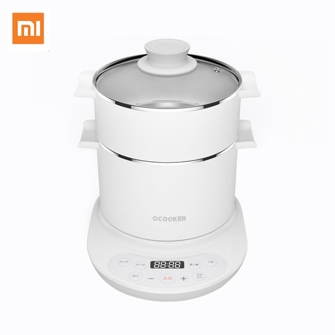 Xiaomi Mijia QCOOKER Multifunction Electric Cooker Kettle Hot Pot Grill Plate with Steamer Egg Boiler 1l capacity household electric cooker heating pot steamer and stewer with egg rack electric kettle easy operating