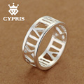 WHOLESALE Good quality Cheap silver cute Ring  Fashion hot lady Ring Roman Numeral women men best gift xmas day engagement