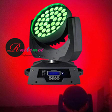 Free Shipping American DJ Supply Spot Led 10WX36 Zoom Moving Head Wash Professional Stage DMX Disco Lightings