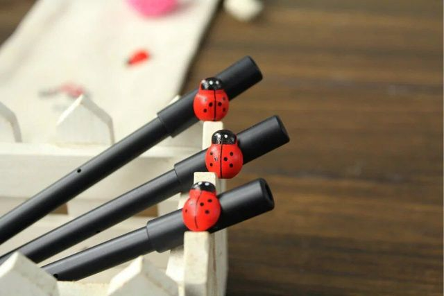 Image 3 : Helicopter, Ladybug Figures from Recycled Industrial Materials,  Bullet Shell Pens?