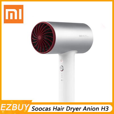 Original Xiaomi Mijia Soocas Hair Dryer Anion H3 Quick-dry Hair Tools 1800W for Xiaomi Smart Home Kits Mi Dryer Design Z30Original Xiaomi Mijia Soocas Hair Dryer Anion H3 Quick-dry Hair Tools 1800W for Xiaomi Smart Home Kits Mi Dryer Design Z30