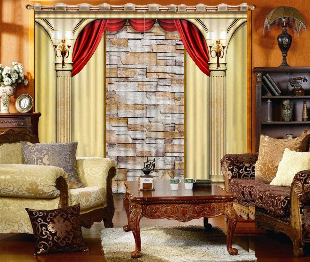 Beautiful Cafe Kitchen Curtains Custom Modern Living Room Curtains European Pillars  Curtains Sheer Cortinas For Bedroom Modern