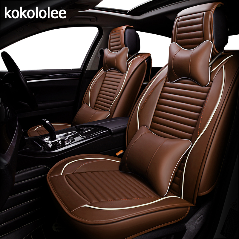 купить KOKOLOLEE pu car seat cover for nissan x-trail t31 navara d40 patrol y61 primera p12 qashqai j10 teana j31 j32 car accessories по цене 9451.65 рублей