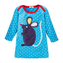 Comfortable Long sleeved dress for little girls