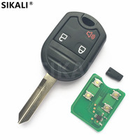 3 Buttons Remote Car Key For Explorer Edge Raptor Escape Maverick Kuga 4D60 Or 4D63 Chip