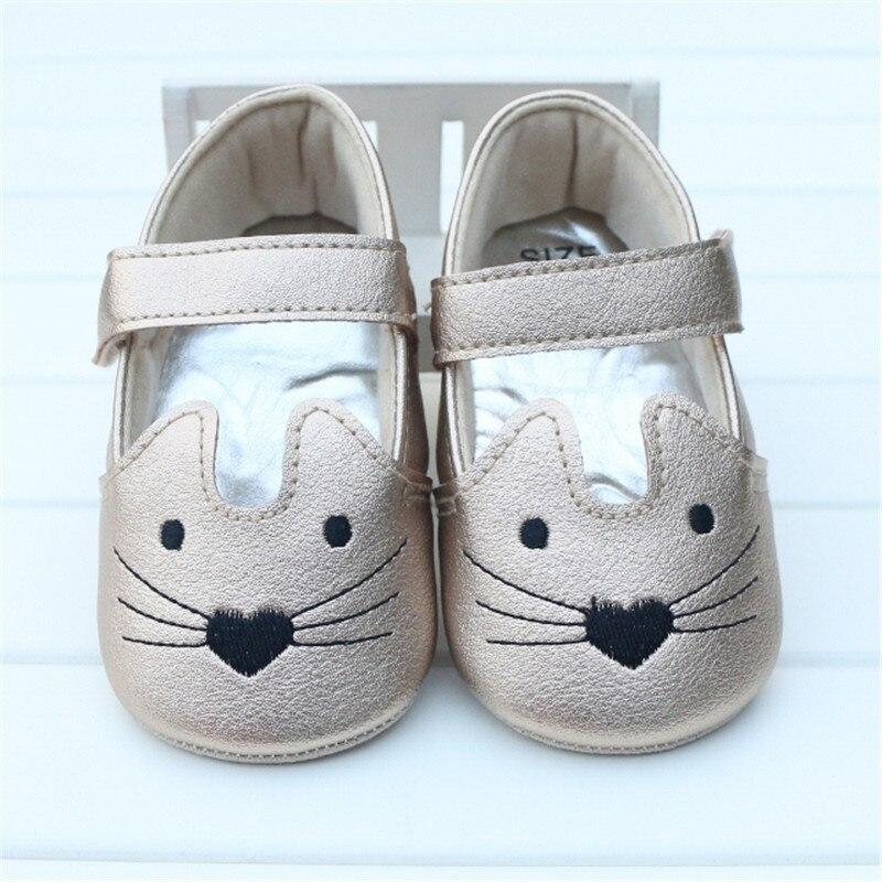 Infant Toddler Bebé Recién Nacido Zapatos de Primavera Otoño Patrón Lindo Gato N