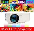 Alta Calidad Más Nueva Mini LED 3D Portátil de Videojuegos Proyector 1080 P 640*480 Reproductor Multimedia Proyector Digital