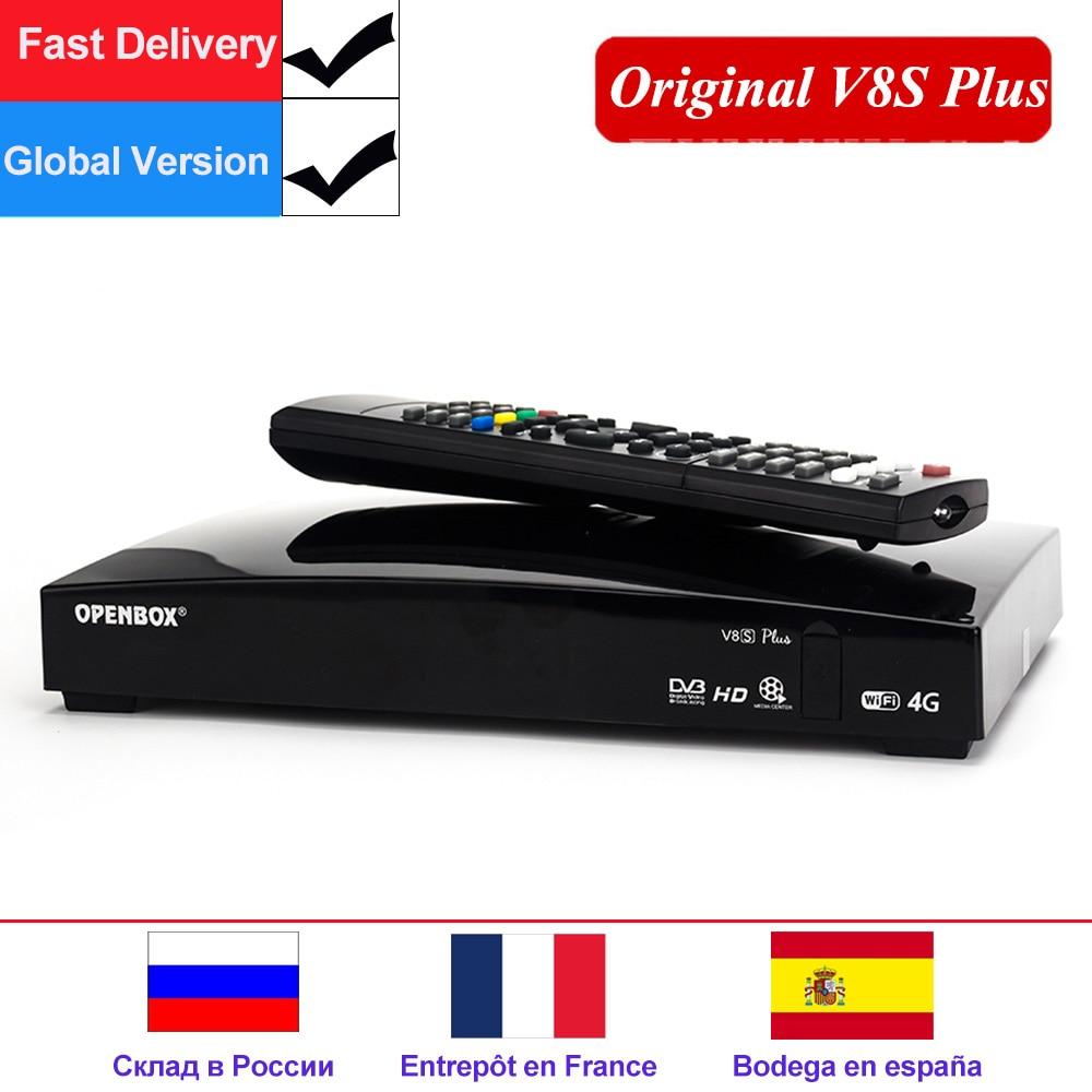 DVB-S2 V8S Plus Receptor Openbox Original Receptor de Satélite Digital Apoio Xtream Biss Key 2x USB Wifi USB Youtube 3G modem