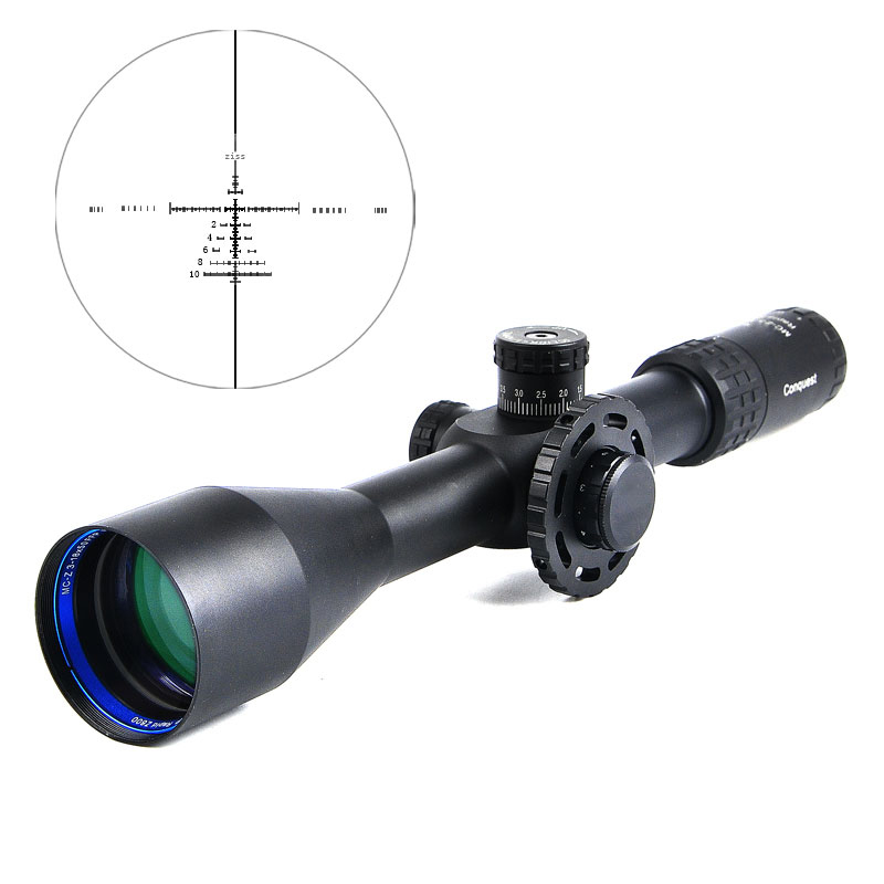 CONQUEST 3 18X50 FFP Tactical Riflescope Optics Side Parallax Adjustable Long Eye Relief Sniper Rifle Scope Hunting Scopes