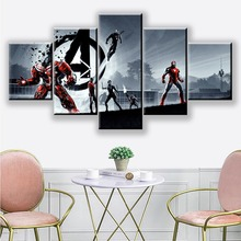 Movie Character Avengers: Endgame Hero warrior 5 Piece Picture Home Decoration For Living Room HD Print Wall Art Canvas Painting