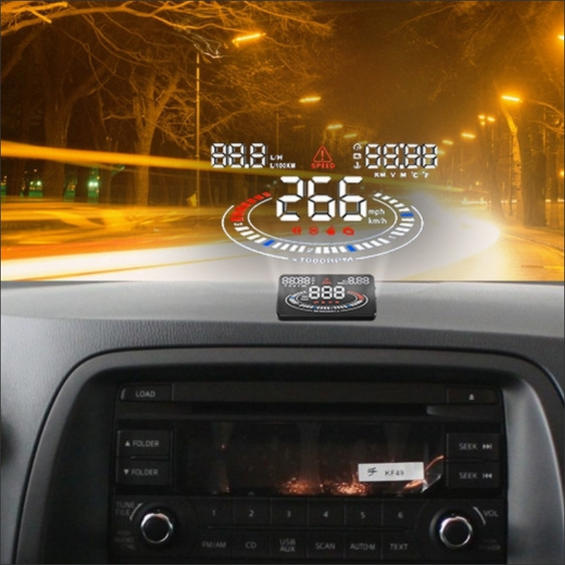 Car HUD Head Up Display For Peugeot 607/806/807/Eurovans E300 HUD AUTO Safe Driving Screen Projector Refkecting Windshield