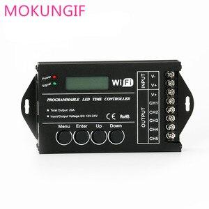 Image 5 - Contrôleur de minuterie RGB TC420 TC421, LED, avec wifi DC12V 24V, 5 canaux, sortie totale 20a Programmable, Anode commune