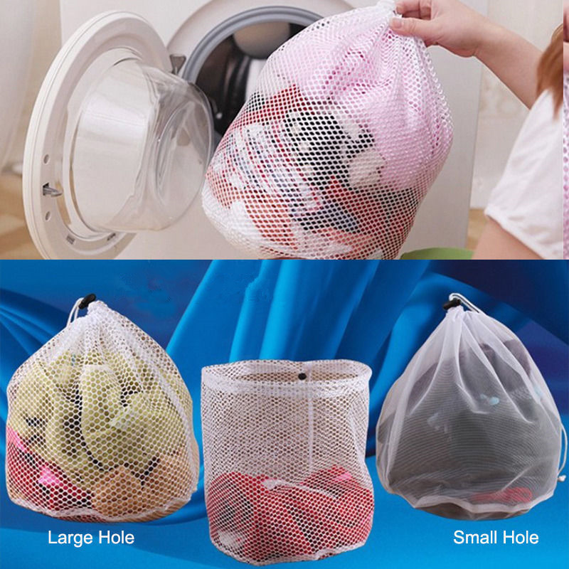 US $1 36 20% OFF|Hot Sell New Washing Machine Used Mesh Net Bags Laundry  Bag Large Thickened Wash Bags S-in Storage Bags from Home & Garden on