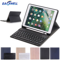 Bluetooth Keyboard Case for iPad 9.7 2017 2018 for iPad Air 1 iPad 5th PU Leather Stand Cover Tablet Case with Wireless Keyboard