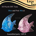 DIY Educational Toys Gifts for Kids ,3D Crystal Puzzle Tuna Home Furnishing Jewelry Three-Dimensional Toys for Adult